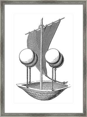 Lana Terzi's Airship Framed Print by Science Photo Library