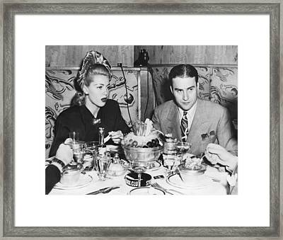 Lana Turner And Artie Shaw Framed Print by Underwood Archives