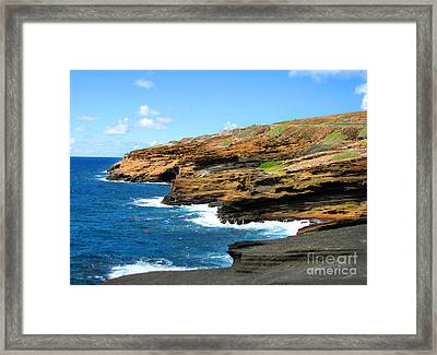 Lanai Lookout Framed Print by Kristine Merc