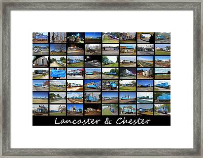 Lancaster And Chester Railway Collage Framed Print by Joseph C Hinson Photography