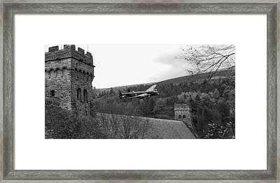 Lancaster At The Derwent Dam Black And White Version Framed Print by Gary Eason