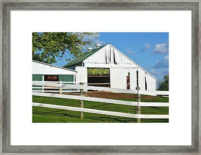 Lancaster County Tobacco Barn Framed Print