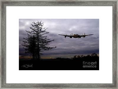 Lancaster Flight  Framed Print by Tom Straub