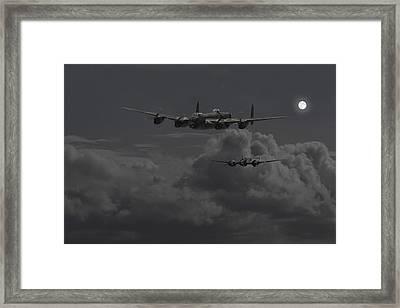 Lancaster- Night Hunter Framed Print