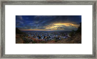 Lancaster Ohio Panorama Framed Print