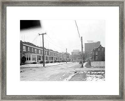 Lancaster, Pennsylvania - Housing. Homes Of Linoleum Framed Print by Litz Collection