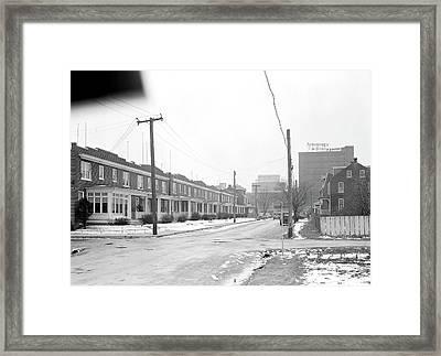 Lancaster, Pennsylvania - Housing. Homes Of Linoleum Framed Print