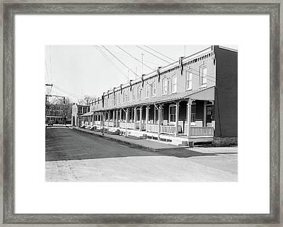Lancaster, Pennsylvania - Housing. Moderately Priced Homes Framed Print