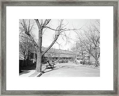 Lancaster, Pennsylvania - Housing. Silk, Linoluem Framed Print by Litz Collection