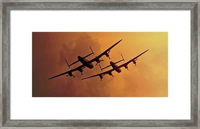 Lancasters Framed Print by Ian Merton