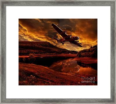 Lancaster's Return Framed Print by Nigel Hatton