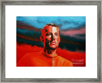 Lance Armstrong 2 Framed Print