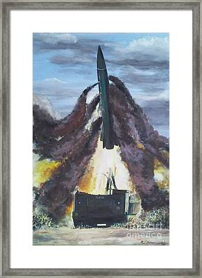 Lance Missile Launching Framed Print by Richard John Holden RA