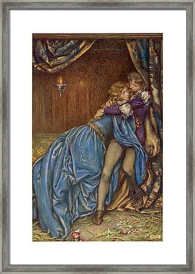 Lancelot And Guinevere  Together Framed Print by Mary Evans Picture Library