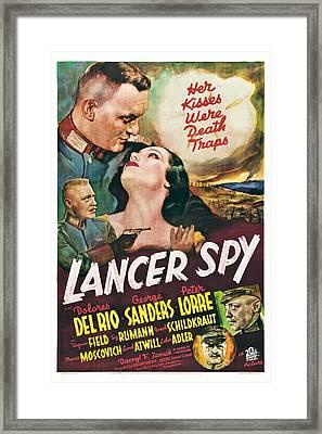 Lancer Spy, George Sanders, Dolores Del Framed Print by Everett