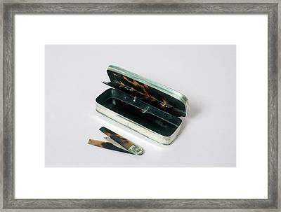 Lancet Case Framed Print by Science Photo Library