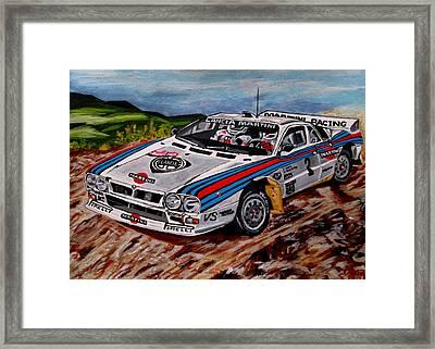 Lancia 037 Framed Print by Jose Mendez