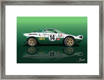Lancia Stratos Hf Framed Print by Alain Jamar