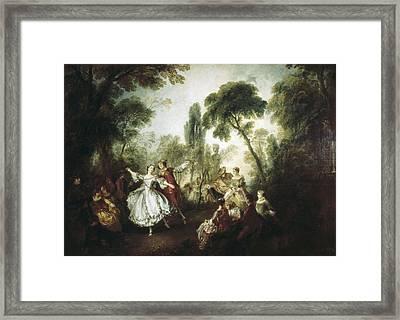 Lancret, Nicolas 1690-1743. La Camargo Framed Print by Everett