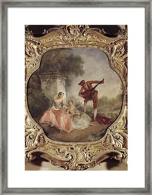 Lancret, Nicolas 1690-1743. The Music Framed Print by Everett