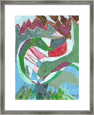 Land 3 Framed Print