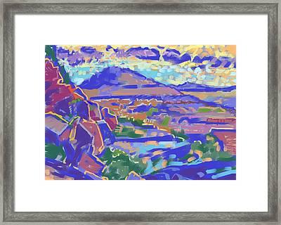 Land And Light Framed Print