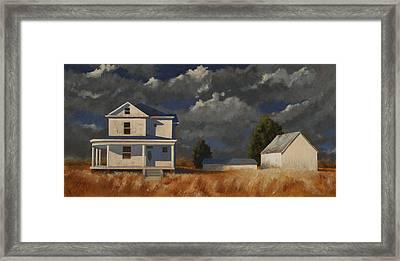 Land Mark Framed Print by John Dean