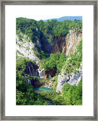 Land Of Falling Lakes Framed Print