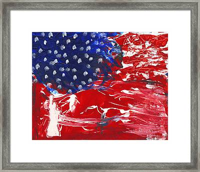 Land Of Liberty Framed Print by Luz Elena Aponte