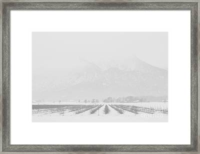 Land Of Snow Framed Print