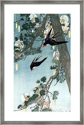 Land Of The Bluebird Framed Print