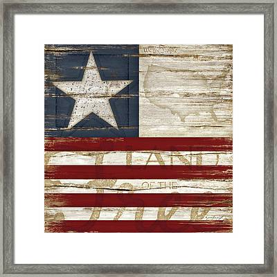 Land Of The Free Framed Print by Jennifer Pugh