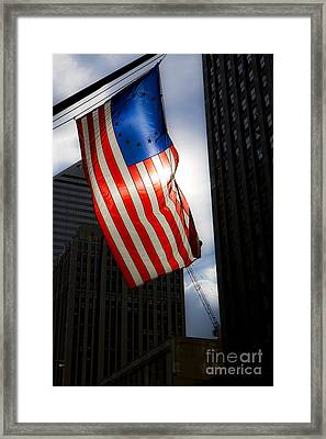 Land Of The Free Framed Print by Leslie Leda