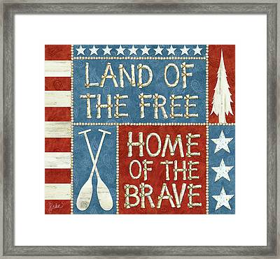 Land Of The Free Lodge Framed Print by Jacqueline Decker