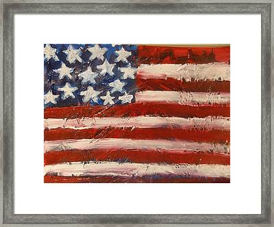 Land Of The Free Framed Print by Niceliz Howard