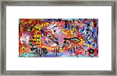 Land Of The Obtuse Tear Framed Print by Darryl  Kravitz