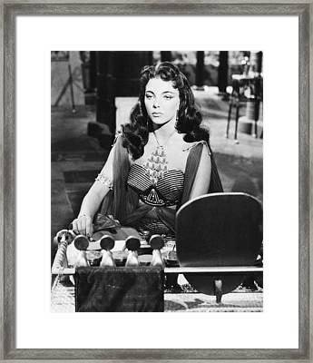 Land Of The Pharoahs, Joan Collins, 1955 Framed Print