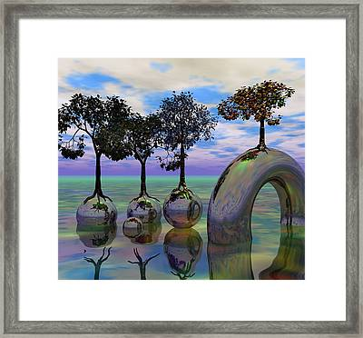 Land Of World 8624034 Framed Print by Betsy Knapp