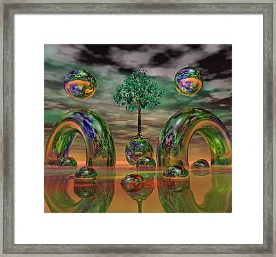Land Of World 8624036 Framed Print by Betsy C Knapp