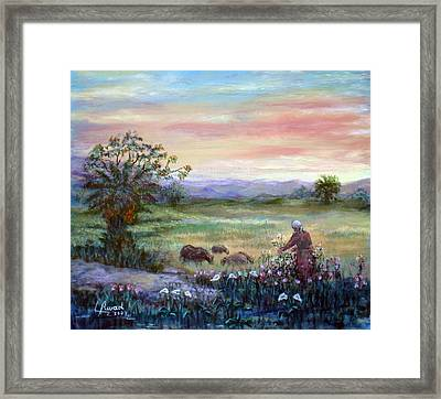In The Farme  Framed Print by Laila Awad Jamaleldin