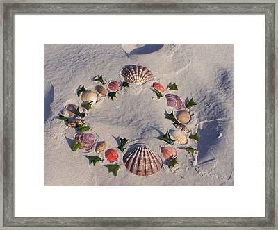 Framed Print featuring the photograph Land  Sea Weath by Michele Kaiser