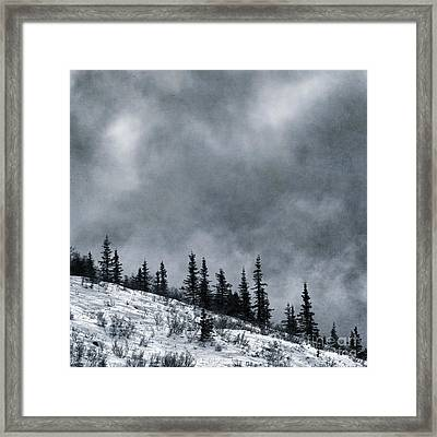 Land Shapes 1 Framed Print by Priska Wettstein
