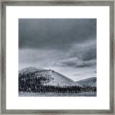 Land Shapes 10 Framed Print by Priska Wettstein