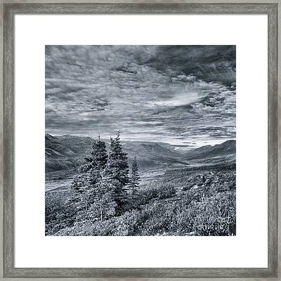 Land Shapes 18 Framed Print by Priska Wettstein