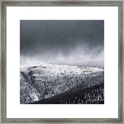Land Shapes 2 Framed Print by Priska Wettstein