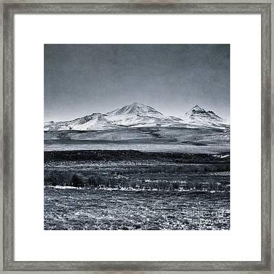 Land Shapes 7 Framed Print by Priska Wettstein