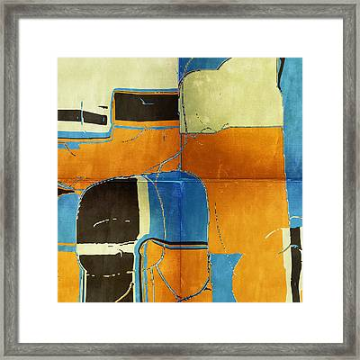 Land Sky And Sea Framed Print by Bonnie Bruno
