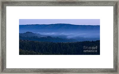 Land Spray In Russian Ridge Framed Print by Matt Tilghman