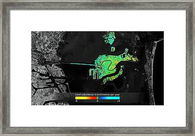 Land Subsidence In Venice Framed Print by Esa/atg Medialab