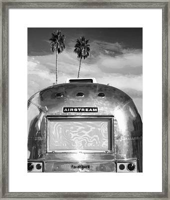 Land Yacht Bw Palm Springs Framed Print